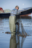 Fisherman at work royalty free stock photo