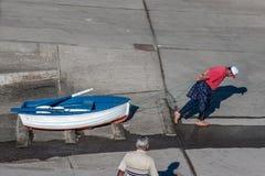 Fisherman at work Royalty Free Stock Image