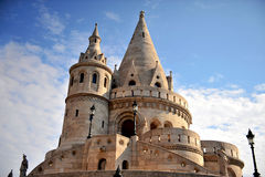 Fisherman's bastion architectural features Stock Images