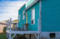 Fisherman's home with lobster traps Royalty Free Stock Photo