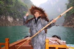 Fisherman on Yangtze river. Stock Image