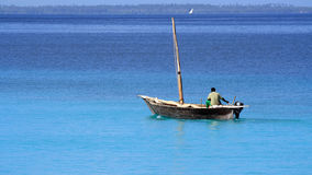 Fisherman in Zanzibar Royalty Free Stock Images