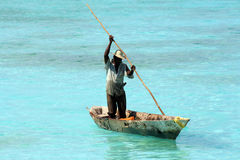 Fisherman in Zanzibar Royalty Free Stock Photography