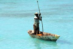 Fisherman in Zanzibar Stock Image