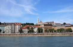 Fishermans塔和老大厦布达佩斯 库存照片