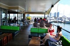 Fishermans码头小酒馆英属黄金海岸昆士兰澳大利亚 免版税图库摄影
