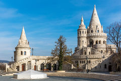Fishermans Bastion, Buda castle in Budapest Stock Images