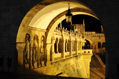 Fishermans bastion in budapest. Detail of fishermans bastion in budapest, hungary royalty free stock image