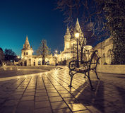 Fishermans Bastion in Budapest, Hungary at night Royalty Free Stock Image