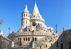 Fishermans bastion in Budapest, Hungary stock photo