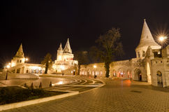 Fishermans-Bastion in Budapest, Ungarn nachts Lizenzfreies Stockbild