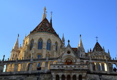 Fisherman bastion turrets Budapest Royalty Free Stock Photo
