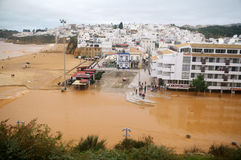 Fishermans beach, Albufeira Royalty Free Stock Photo