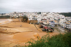 Fishermans beach, Albufeira Stock Photos