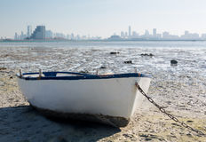 Fishermans boat on waterfront in Bahrain Royalty Free Stock Image