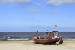 Fishermans Boot stockfoto