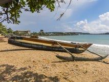 Fishermans-Boot auf dem Strand Stockbild