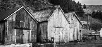 Fishermans-Bootshäuser Lizenzfreie Stockfotografie