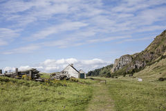 Fishermans Bothy at St Cyrus in Scotland. Royalty Free Stock Photography