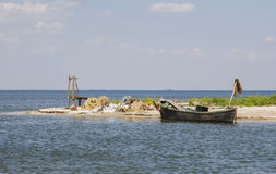 Fishermans camp. Delta of Danube. Royalty Free Stock Photo