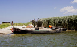 Fishermans camp. Delta of Danube. Royalty Free Stock Images