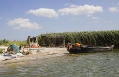 Fishermans camp. Delta of Danube. Stock Photos