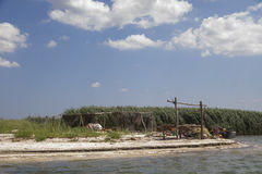 Fishermans camp. Delta of Danube. Stock Photography