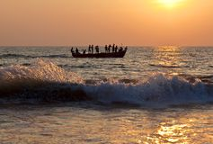 Fishermans com redes imagens de stock