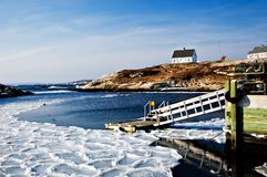 Fishermans Cove On Atlantic Co Royalty Free Stock Image