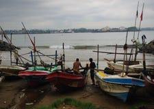 Fishermans-Gespräch Stockbild