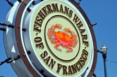 Fishermans hamnplats av San Francisco Arkivfoto