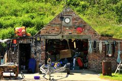 Fishermans hut, Porthgain, Wales Royalty Free Stock Photos