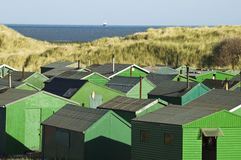 Fishermans huts Royalty Free Stock Photos