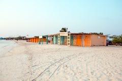 Fishermans Huts on Aruba island Stock Image