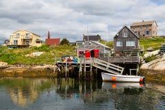Fishermans kojaPeggys liten vik Fotografering för Bildbyråer