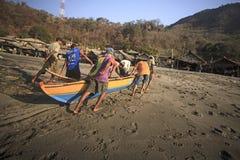 Fishermans (Lamalera, Ινδονησία) Στοκ Εικόνα