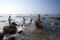 Fishermans (Lamalera, Indonesië) Stock Foto's
