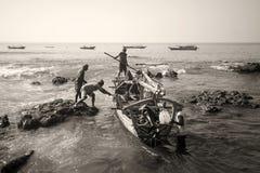 Fishermans.(Lamalera,Indonesia) Royalty Free Stock Image