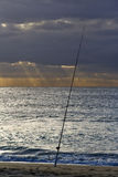 Fishermans Rod. The Fishermnas Rod at the beach during twilight royalty free stock images