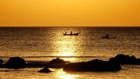 Fishermans solnedgång royaltyfri foto