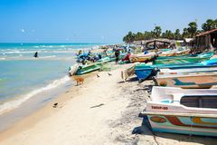 Fishermans an Talaimannar-Strand Lizenzfreies Stockfoto