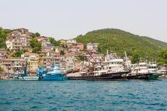 Fishermans village. Royalty Free Stock Image