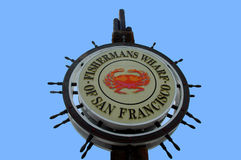 Fishermans Warf Sign Stock Photography