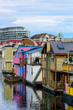 Fishermans Warf Victoria BC, Canada, March 18, 2015 Royalty Free Stock Photo