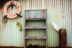 Fishermans wharf. Old boat yard detail misawa japan Royalty Free Stock Photo