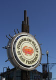 Fishermans Wharf of San Francisco Sign Stock Photos