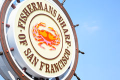 Fishermans Wharf sign in San Francisco Stock Photos