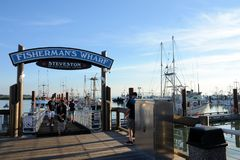 Fishermans Wharf Steveston royalty free stock photos