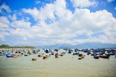 Fishermansdorp in Vietnam Stock Foto's