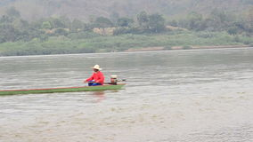 Fishermem at Mekong River Stock Photos
